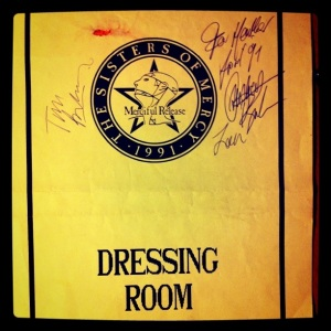 Dressing Room Sign, 1991